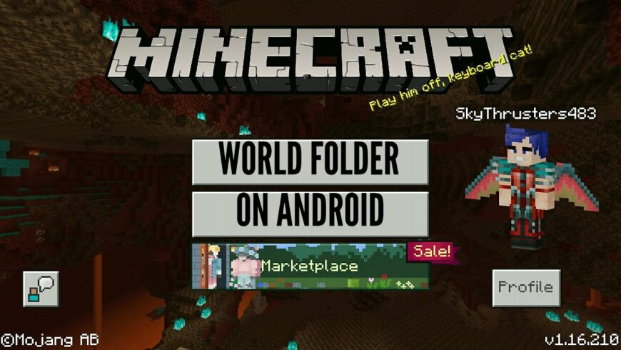 How to locate the Minecraft Worlds Folder on Android